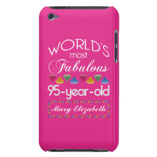 95th Birthday Most Fabulous Colorful Gems Pink iPod Touch Case-Mate Case