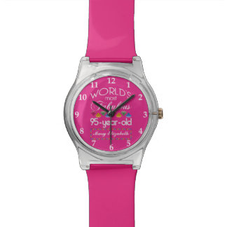 95th Birthday Most Fabulous Colorful Gems Pink Wrist Watches