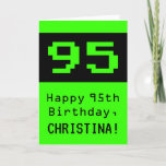 """[ Thumbnail: 95th Birthday: Nerdy / Geeky Style """"95"""" and Name Card ]"""