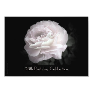 95th Birthday Party Celebration Pale Pink Rose Card