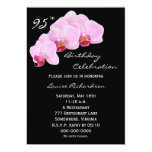 95th Birthday Party Invitation -- Orchids