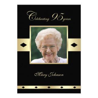 95th Birthday Party Invitation -- Photo 95th Personalized Invite