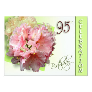 95th Birthday Party Invitation - Rhododendron