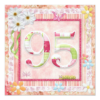 95th birthday party scrapbooking style card