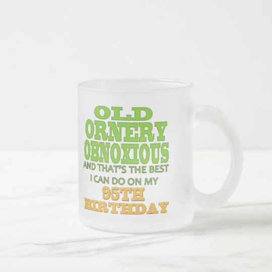 95th Birthday T-shirts and Gifts Frosted Glass Coffee Mug