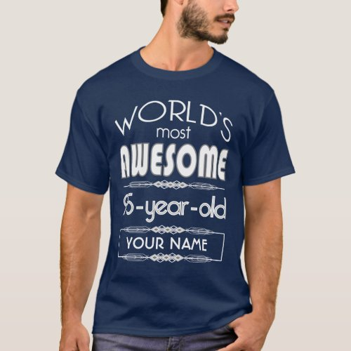 95th Birthday Worlds Best Fabulous Dark Blue T_Shirt
