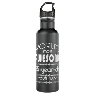 95th Birthday Worlds Best Fabulous Dark Green Fore Stainless Steel Water Bottle