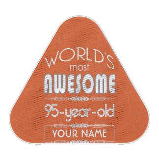 95th Birthday Worlds Best Fabulous Flame Orange Bluetooth Speaker