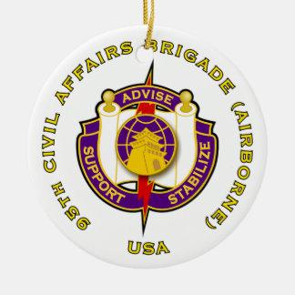 95th Civil Affairs Brigade - Airborne Ceramic Ornament