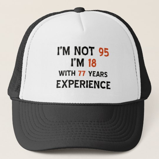 95th cool birthday designs trucker hat  1d790b3684a