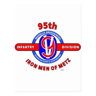 "95TH INFANTRY DIVISION ""IRON MEN OF METZ"" POSTCARD"