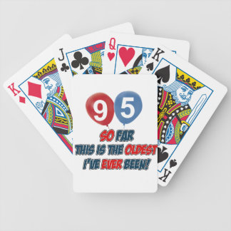 95th year old birthday gift poker deck