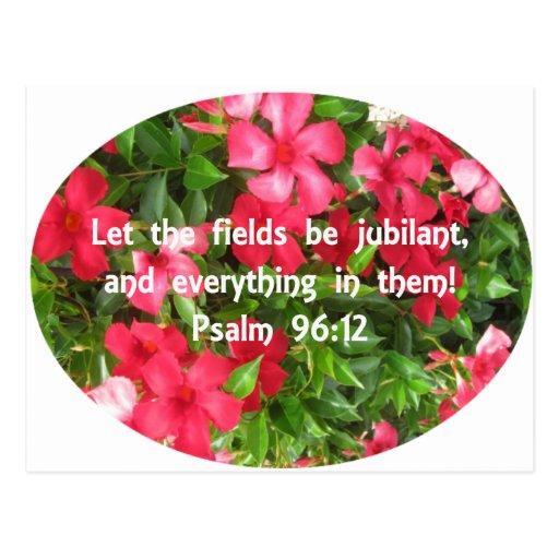 96:12 del salmo - flores tarjetas postales