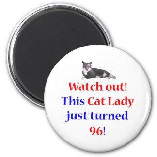 96 Cat Lady Fridge Magnet