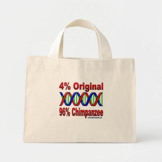 96% chimp mini tote bag