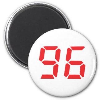 96 ninety-six red alarm clock digital number fridge magnets
