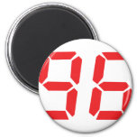 96 noventa y seis números digitales del despertado imanes de nevera