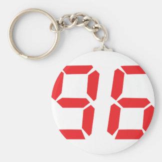 96 noventa y seis números digitales del despertado llaveros personalizados