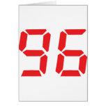 96 noventa y seis números digitales del despertado tarjetón