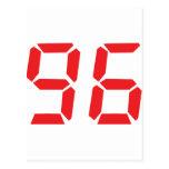 96 noventa y seis números digitales del despertado tarjeta postal