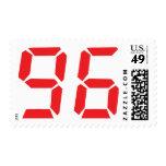 96 noventa y seis números digitales del sello
