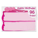 96.o cumpleaños feliz tarjeta