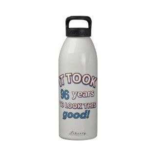 96.os diseños años del cumpleaños botella de agua reutilizable