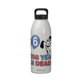 96.os diseños años del cumpleaños botella de agua