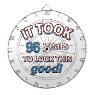 96.os diseños años del cumpleaños tabla dardos