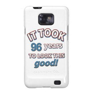 96.os diseños años del cumpleaños galaxy s2 funda