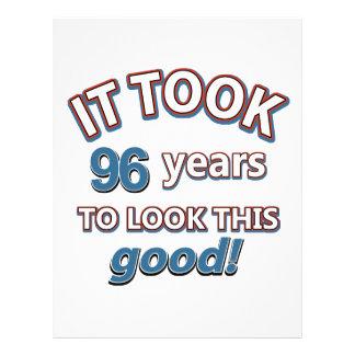 96.os diseños años del cumpleaños plantillas de membrete