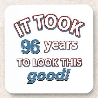 96.os diseños años del cumpleaños posavasos de bebidas