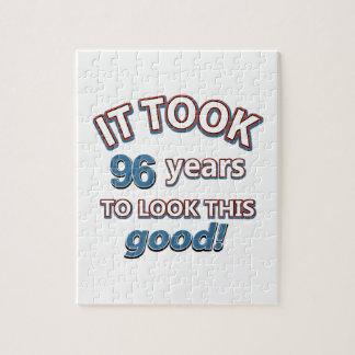 96.os diseños años del cumpleaños puzzle
