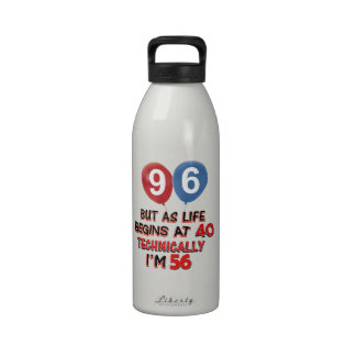 96.os diseños del cumpleaños del año botellas de agua reutilizables