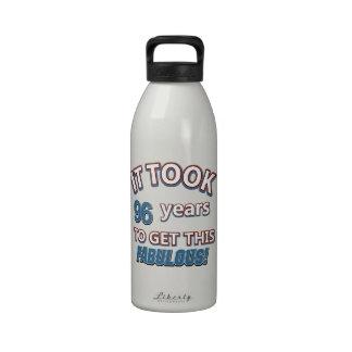 96.os diseños del cumpleaños del año botella de beber