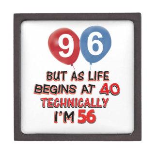 96.os diseños del cumpleaños del año cajas de regalo de calidad