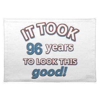 96.os diseños del cumpleaños del año mantel individual