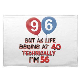 96.os diseños del cumpleaños del año manteles individuales