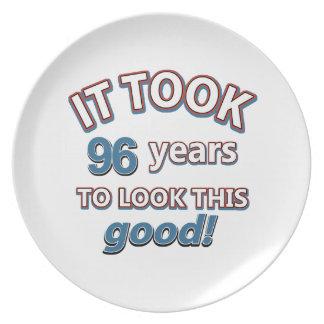 96.os diseños del cumpleaños del año platos de comidas