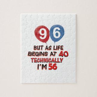 96.os diseños del cumpleaños del año puzzle con fotos