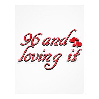 96 y amor de lo membretes personalizados