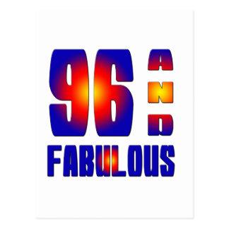 96 y fabuloso tarjeta postal