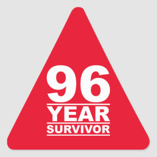 96 year survivor triangle sticker