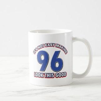96th birthday designs classic white coffee mug