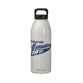 96th birthday designs water bottles