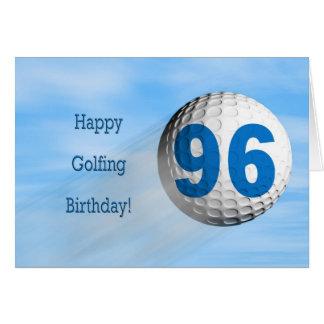 96th birthday golfing card. greeting card