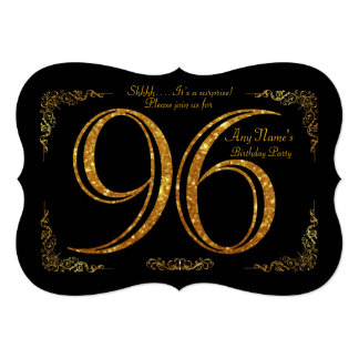 96th,Birthday party 96th,great Gatsby,black & gold Card