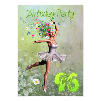 96th Birthday party invitation