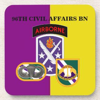 96TH CIVIL AFFAIRS BATTALION DRINK COASTERS