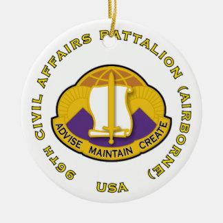 96th Civil Affairs Bn - Airborne Ceramic Ornament